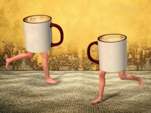 Two mugs with legs