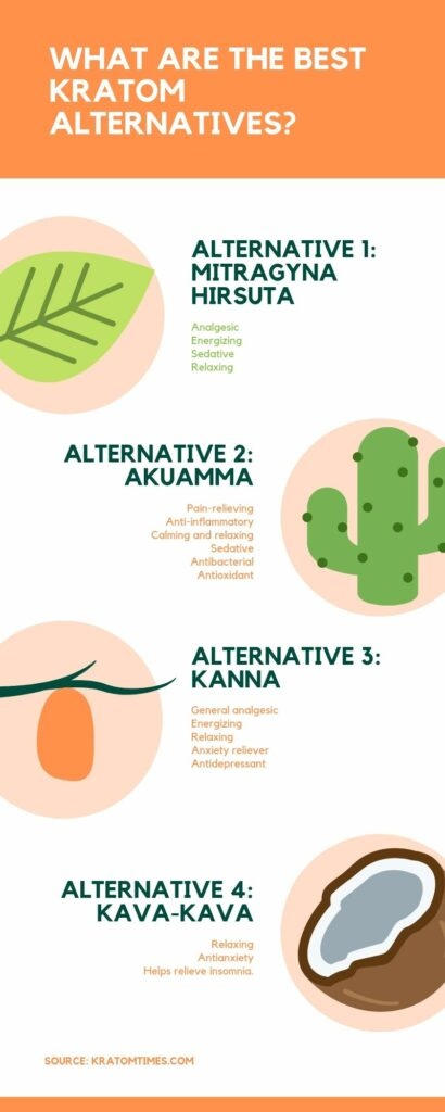 what are the best kratom alternatives infographic